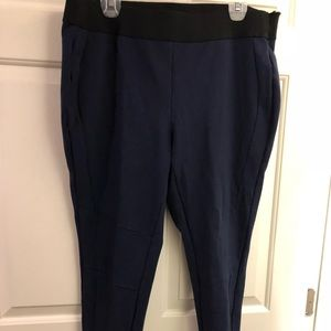 Crown and Ivy 2X navy spandex faux pants